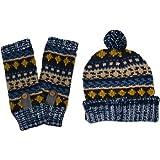 Muk Luks Women's Heritage Chunky-Knit Pom Beanie and Armwarmer Set
