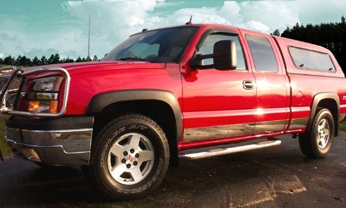 Made In USA! 99-06 Silverado 4Dr Extended Cab Short Bed W/Fender Flare Rocker Panel Chrome Stainless Steel Body Side Moulding Molding Trim Cover 6