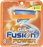 Gillette Fusion Power Replacement Cartridges, 8 Count