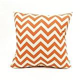 Majestic Home Goods Burnt Orange Zig Zag Pillow, Large