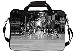 Snoogg Do You Believe In Serendipity 15 15.5 15.6 inch Laptop Notebook SlipCase With Shoulder Strap Handle Sleeve Soft Case With Shoulder Strap Handle Carrying Case With Shoulder Strap Handle for Macbook Pro Acer Asus Dell Hp Sony Toshiba