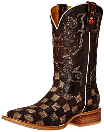tin-haul-shoes-mens-gun-metal-check-western-boot-desert-sand-brown-115-d-us