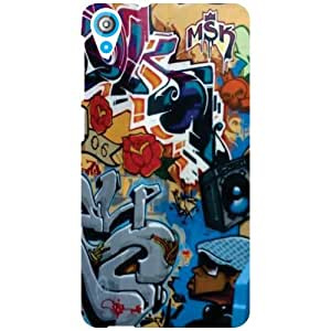 Htc Desire 820-Grafiti Matte Finish Phone Cover