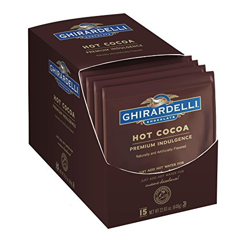 Ghirardelli Hot Cocoa, Premium Indulgence, 1.5-Ounce Envelopes, 15-Count
