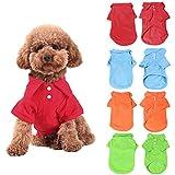 KINGMAS® 4Pcs Pet Dog Puppy Polo T-Shirt Clothes Outfit Apparel Coats Tops (Small)