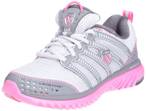 K-SWISS Blade Light Race Ladies Running Shoes, Grey/Pink, UK4