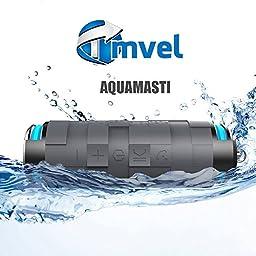 Tmvel Aquamasti Rugged Wireless Bluetooth 4.0 Shockproof Water Resistant/Waterproof Speakers with Power Bank - Retail Packaging