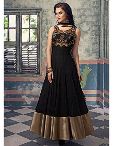e253a61514b8 Buy Marmic Fab Women s Net A-Line Semi Stitched Anarkali Dress Material( Dresses 10 Blue Free Size) on Amazon