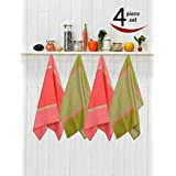 Avira Home Royal Classic 100% Cotton Large Kitchen Towel, Dish Cloth, Cleaning Cloth Set With Hanging Loop- Pack...