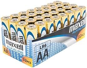 Maxell LR6 - Pilas alcalinas (AA, paquete de 32 unidades)