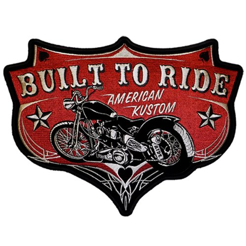 Hot Leathers Built To Ride American Kustom Patch (5