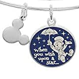 Disney Parks Alex and Ani Jiminy Cricket When You Wish Upon a Star Silver Bracelet Charm