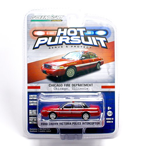 Greenlight Collectibles Hot Pursuit Series 13 - Chicago Fire Department Ford Crown Victoria