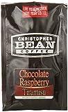 Christopher Bean Coffee Flavored Decaffeinated Ground Coffee, Chocolate Raspberry Tiramisu, 12 Ounce