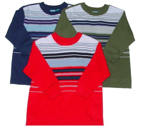 Toddler Boys' Long Sleeve Striped Crewneck - Buy Toddler Boys' Long Sleeve Striped Crewneck - Purchase Toddler Boys' Long Sleeve Striped Crewneck (French Toast, French Toast Apparel, French Toast Toddler Boys Apparel, Apparel, Departments, Kids & Baby, Infants & Toddlers, Boys, Shirts & Body Suits, T-Shirts & Tank Tops)