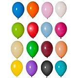 100 Luftballons in Pastellfarben Buntmix 26cm [Spielzeug] Prezer®