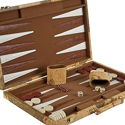 coolest leather backgammon game board set
