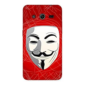 Impressive Red Anonymous Mask Back Case Cover for Galaxy Core 2