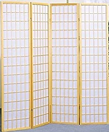 4 Panels Natural Shoji Screen Room Divider