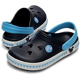 crocs Crocband Mickey Clog (Toddler/Little Kid/Big Kid) III Kids Clog (Toddler/Little Kid/Big Kid),Navy/Electric Blue,10 M US Toddler