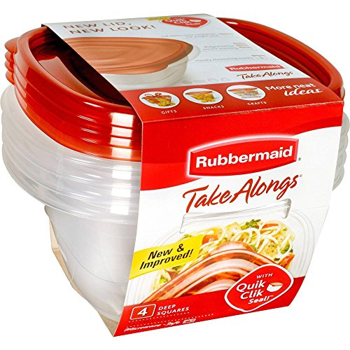 Rubbermaid FG7F54RETCHIL TakeAlongs Container and Lid 4 Piece Set