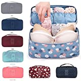 #6: Orpio Waterproof Travel Divided Underwear Pouch Makeup Toiletry Cosmetic Organizers Women bag, Multi