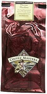 Coffee Masters Flavored Coffee, Hawaiian Macadamia, Ground, 12-Ounce Bags (Pack of 4)