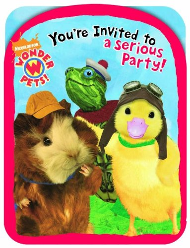 Wonder Pets Die-Cut Invitations (8 Pack) - 1