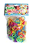 Refill Bands Diy Sill Bead Zupa Loom Silly Bead Rainbow Colors 300ct with S Clips