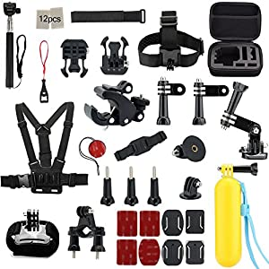 Gogolook 43-in-1 Basic Common Bundles Camera Accessories Kits for Gopro Camera, SJ Cam, and Xiao Mi Yi Camera