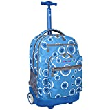 'Sundance' Blue Target 19.5 inch Rolling Backpack with Laptop Sleeve (Blue Polyester)