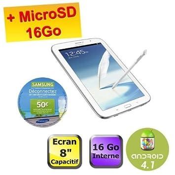 Tablettes SAMSUNG GALAXY NOTE 80 WIFI BLANC 16GO 8\