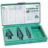 Greenlee 35884 Kwik Stepper Step Bit Kit, 3 Piece