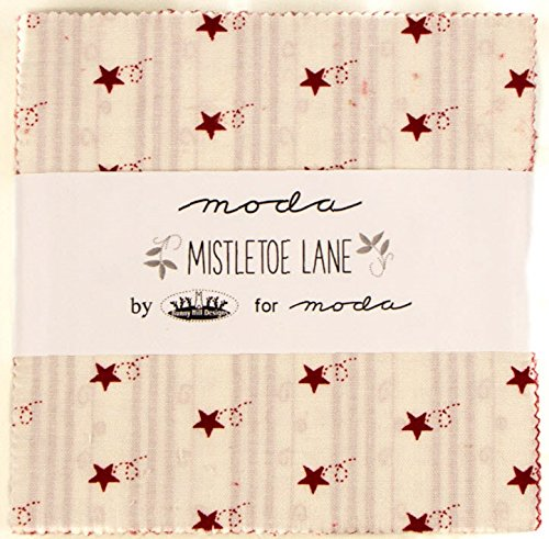 Mistletoe Lane Moda Charm Pack By Bunny Hill Designs; 42 - 5
