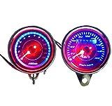 バイク 用 LED タコメーター & スピードメーター 12V 電気式 13000回転 180km 汎用