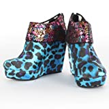 Iron Fist - Womens Treasure Box Wedges In Turquoise