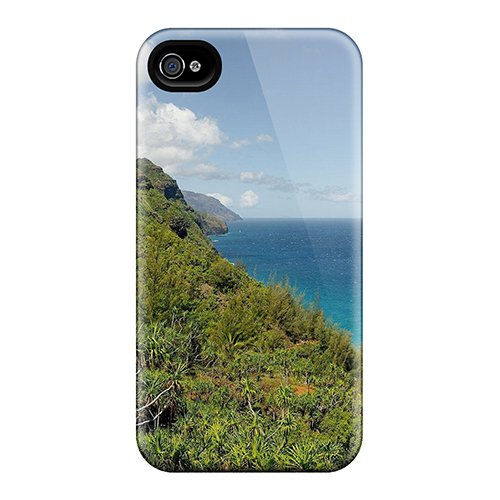 Iphone 4/4S Case Cover Hiking In Na Pali Case - Eco-Friendly Packaging front-1023864