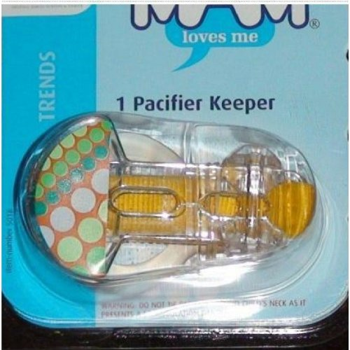 Mam Trends Pacifier Clip Keeper 1Pk - Yellow front-803722