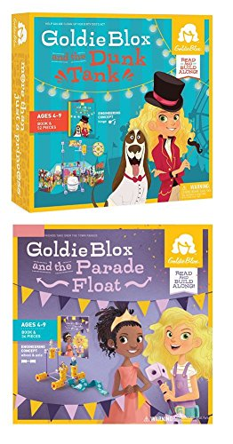 GoldieBlox Parade Float and Dunk Tank Building Sets
