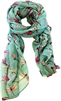 KukuBird Dragonfly Small print long shawls / scarves / wraps / head scarf / pashmina