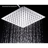 WaterBella Stainless Steel Shower Head - Rain Style Showerhead, Waterfall Effect, Elegantly Designed, High Polish Chrome, 8-inch Diameter, Ultra Thin