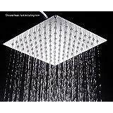 WaterBella Stainless Steel Shower Head - Rain Style Showerhead, Waterfall Effect, Elegantly Designed, High Polish Chrome, 8-inch Diameter, Ultra Thin