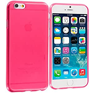 Accessory Planet(TM) Hot Pink Transparent TPU Rubber Skin Case Cover Accessory for Apple iPhone 6 Plus (5.5)