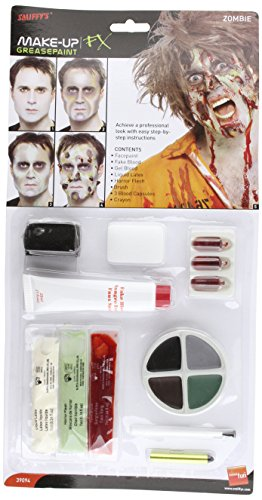 Kit maquillage zombie adulte Halloween - 1