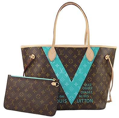 Louis Vuitton Neverfull MM Monogram V Turquoise M41601 Handbag