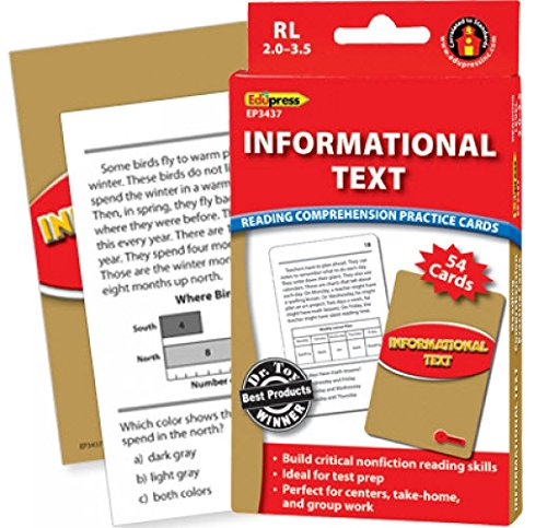 Informational Text Practice Cards Red Level