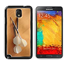 buy Msd Samsung Galaxy Note 3 Aluminum Plate Bumper Snap Case White Darts On Wodden Board Of Cherry Tree Image 19696527