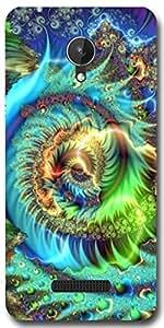 SEI HEI KI Designer Back cover for Micromax Canvas Spark Q380 - Multicolor