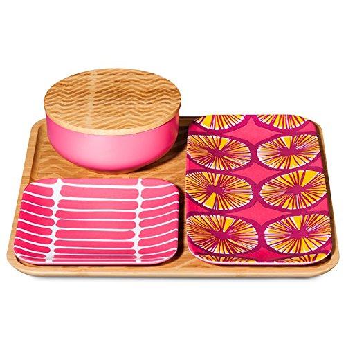 marimekko-appelsiini-okariino-print-warm-bamboo-pattern-pink-yellow-4-piece-serving-set-large-servin