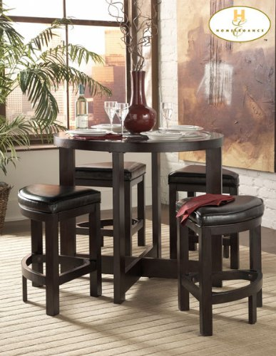 Homelegance Bradford 5 Piece Counter Height Table Set